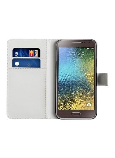 Microsonic Cüzdanlı Deri  Galaxy E5 Kılıf  Renkli